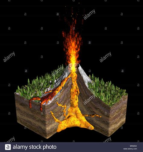 Volcano Images Illustration Of A Volcano Spitting Showing A Cross