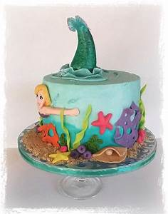 Mermaid Birthday Cake - CakeCentral com