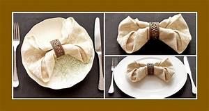 Servietten Falten Tischdeko : servietten falten schleife deko ideen ~ Markanthonyermac.com Haus und Dekorationen