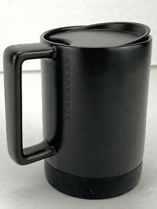 You'll receive email and feed alerts when new items arrive. Starbucks Black Ceramic Coffee Mug Silicone Nonslip Bottom with Lid 14 fl oz | eBay