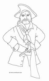 Coloring Pages Blackbeard Pirate Getcolorings Printable sketch template