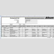 Including Design Data In The Excel Bom  Online Documentation For Altium Products