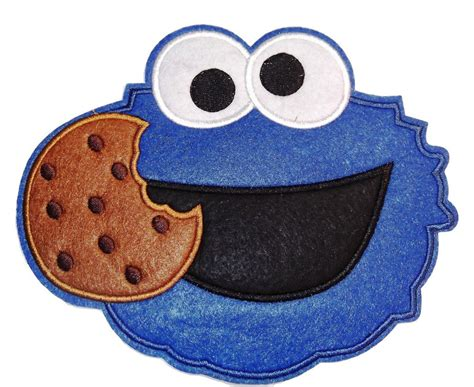 """Sesame Street Cookie Monster Face Large 6 12"""" Wide"""