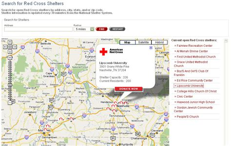 map     shelter location feed
