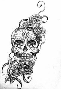 Dessin Tete De Mort Avec Rose : tatouage bras rose tete de mort id es de tatouages et piercings ~ Melissatoandfro.com Idées de Décoration