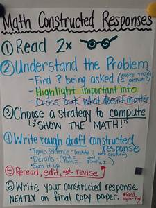 Anchor Charts For Reading Well Writing Constructed Responses