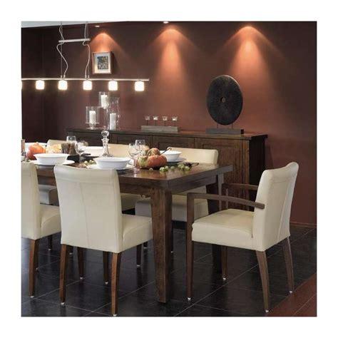 siege salle a manger chaise de salle à manger en bois et tissu shanna mobitec
