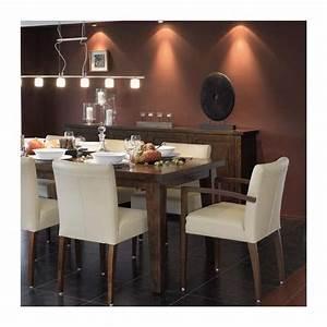 Table Et Chaise De Salle A Manger : chaise de salle manger en bois et tissu shanna mobitec 4 pieds tables chaises et tabourets ~ Teatrodelosmanantiales.com Idées de Décoration