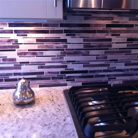 purple back splash for kitchen home is where my