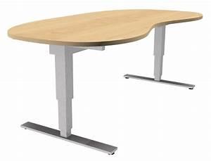 Elektrisch Hhenverstellbarer Tisch XDSM In Nierenform
