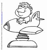 Coloring Pages Park Amusement Printable Sheet Miscellaneous Ride Sheets Spaceship Kid sketch template
