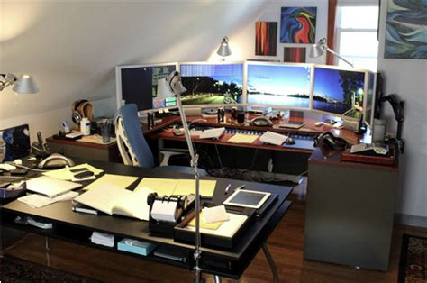 best desk for multiple monitors dream desktop mary wiseman designs