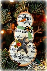 Sheet Music Snowman DIY Ornament by Real Life in