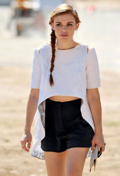holland roden white dress shorts celebrity holland roden white top asymmetrical
