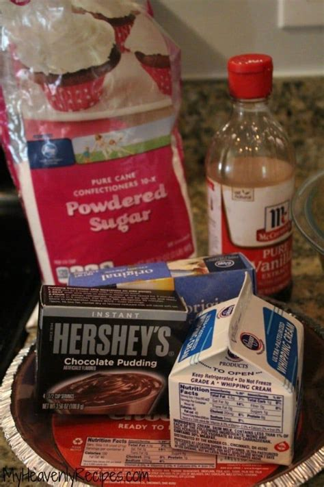 Combine the cocoa powder, water, sugar and salt in a. hershey sundae pie ingredients including powdered sugar and hershey chocolate pudding   Hershey ...