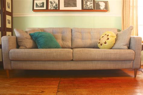 Karlstad Sofa Leg Hack by My So Called Handmade Sofa Hack