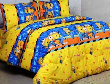 detail product seprei dan detail product seprei dan bedcover minion kuning toko