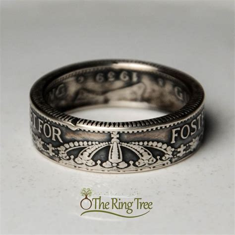 wedding ring shop stockholm sweden 1 krona theringtree coinring silver sweden swedish jewelry wedding ring