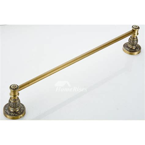 antique towel bar wall mount zinc alloy single pole