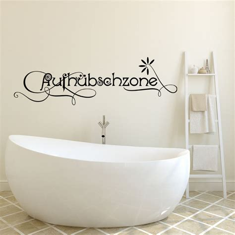 sticker salle de bain citation aufh 252 bschzone fleurs stickers citations allemand ambiance sticker