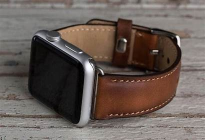Apple Leather Band Brown Bands Genuine 42mm
