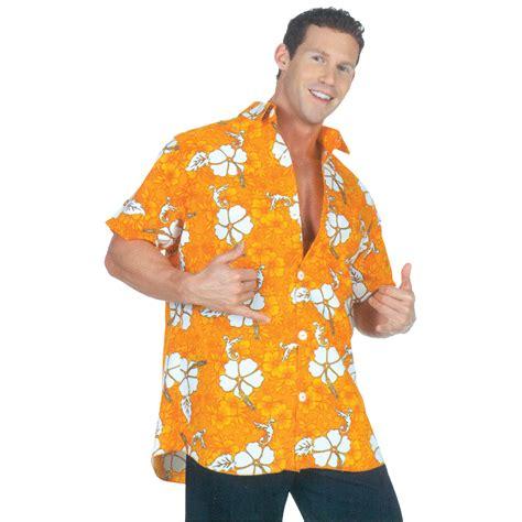 Orange Hawaiian Shirt Adult Halloween Costume - Walmart ...