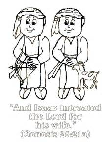 Jacob and Esau Coloring Pages for Kids