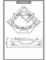 Tub Drawing Corner Bathtubs Jetted Getdrawings sketch template