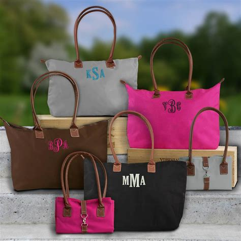 embroidered monogram tote bags giftsforyounow