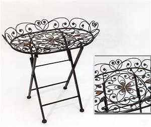 Beistelltisch Garten Metall : klapptisch flower metall braun beistelltisch oval tisch h he 59 cm serviertisch ebay ~ Eleganceandgraceweddings.com Haus und Dekorationen