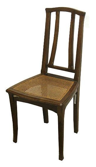 fabulous set of six nouveau dining chairs for sale