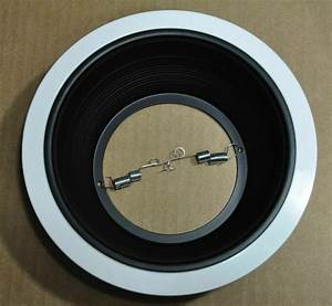 6 U0026quot  Inch Black Baffle Recessed Can Light Trim To Replace