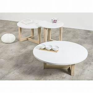 Table Basse Scandinave Ronde : 25 best ideas about table basse ronde on pinterest ~ Teatrodelosmanantiales.com Idées de Décoration