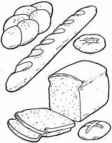 Coloring Pages Bread Breakfast Printable Preschool Sheets Worksheets Loaf Cartoon Crafts Board Kindergarten Colouring Cheese Preschoolactivities Template Breads Books Toddler sketch template