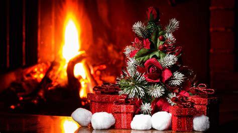 Christmas Near Fireplace Wallpaper For Desktop 1920x1080
