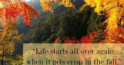 life starts       crisp   fall