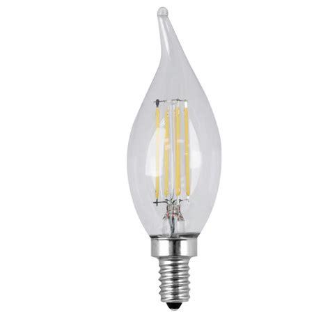 4 led light bulbs ge 60w equivalent daylight ca10 bent tip candelabra base