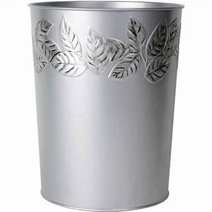 Mainstays, Silver, Leaves, Wastebasket