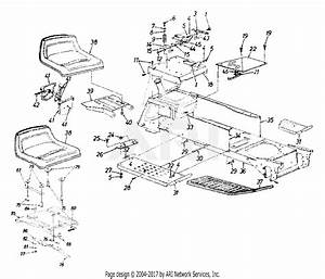 Mtd 14ai825p352  1999  Parts Diagram For Frame  Seat  Fuel