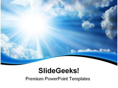 blue sky nature powerpoint templates  powerpoint
