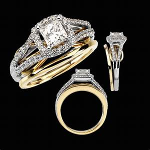 Dual band diamond engagement ring for Dual band wedding rings