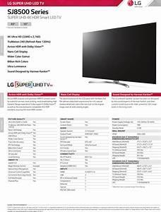 Lg 65sj8500 User Manual Specification Sj8500 Series Spec