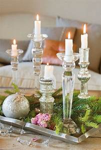 25 best ideas about french christmas decor on pinterest With best brand of paint for kitchen cabinets with blue mercury glass candle holders
