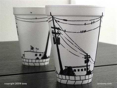 styrofoam cup design styrofoam coffee cup that borders on the epically