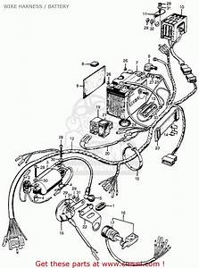 Honda Cl100 Scrambler 1971 K1 Usa Wire Harness    Battery   Battery Spares Online