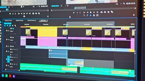 Video editing timeline - editor going through clips and ...