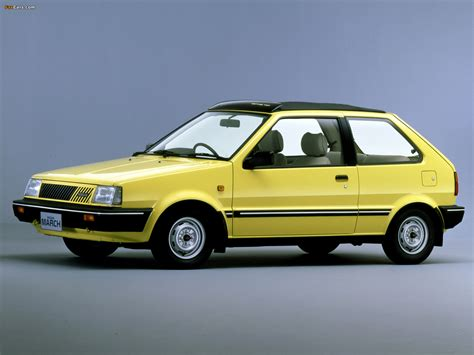 Nissan March Canvas Top 3-door (K10) 1982–91 wallpapers ...
