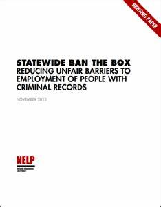 Statewide Ban the Box: Reducing Unfair Barriers to ...