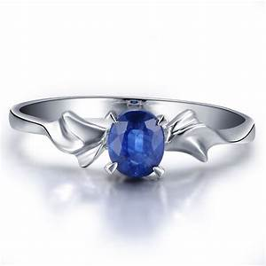 unique sapphire engagement ring on 10k white gold jeenjewels With unique sapphire wedding rings