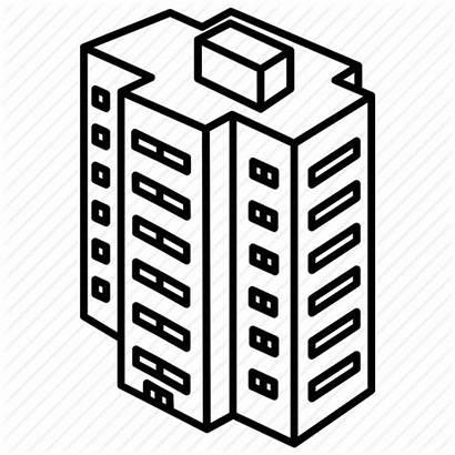 Building Icon Apartment Flats Clipart Block Housing